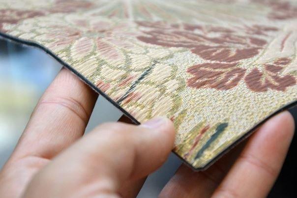چاپ بافت و برجستگی انواع پارچه روی کاغذ