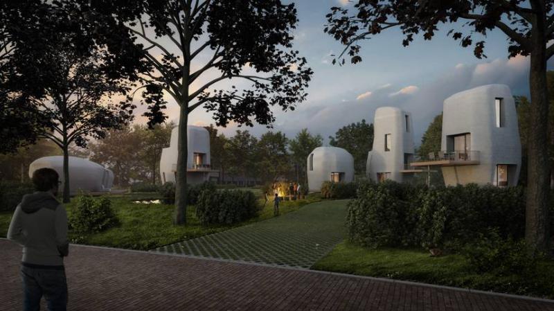خانه های هلندی با پرینتر سه بعدی