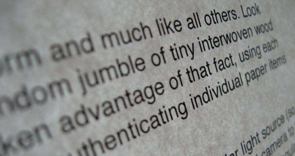 تشخیص اسناد جعلی از واقعی با استفاده از بافت کاغذ